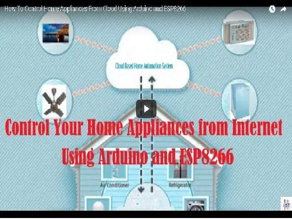 Control Home Appliance From Internet Using Arduino and WiFi