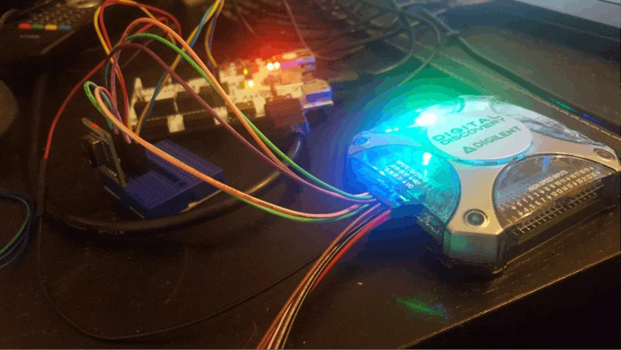 Digital Discovery with FLIR Lepton on breakout board