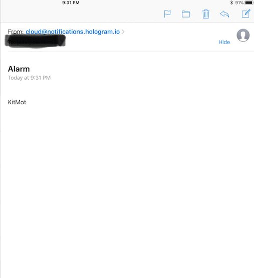 Email From Hologram
