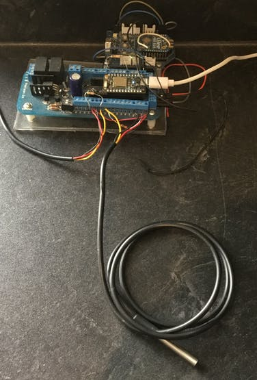 Indoor And Outdoor Sensors Hooked Up