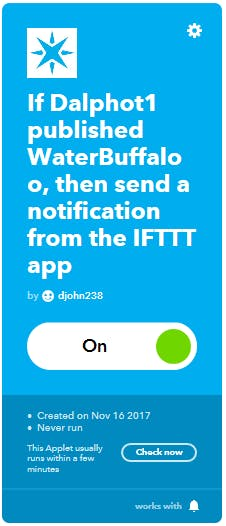 IFTTT Interface