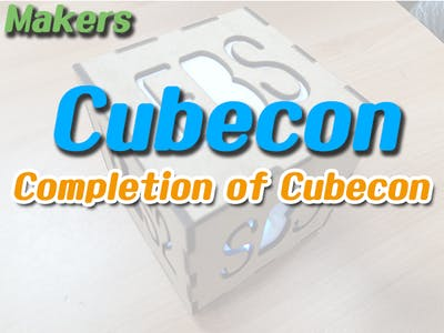 Makers (Cubecon) #5 Completion of Cubecon