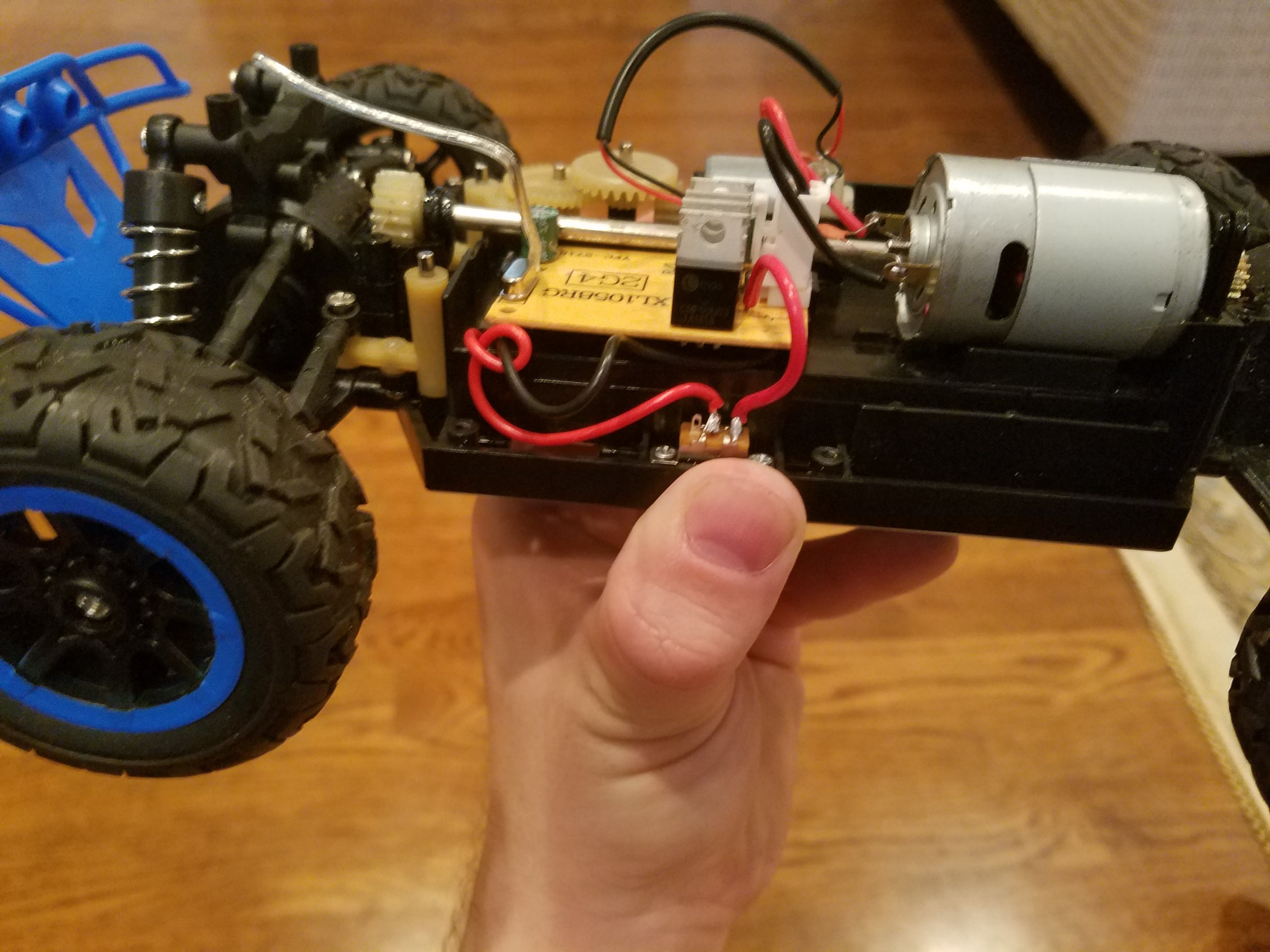 Power Switch and side view of Drive Motor