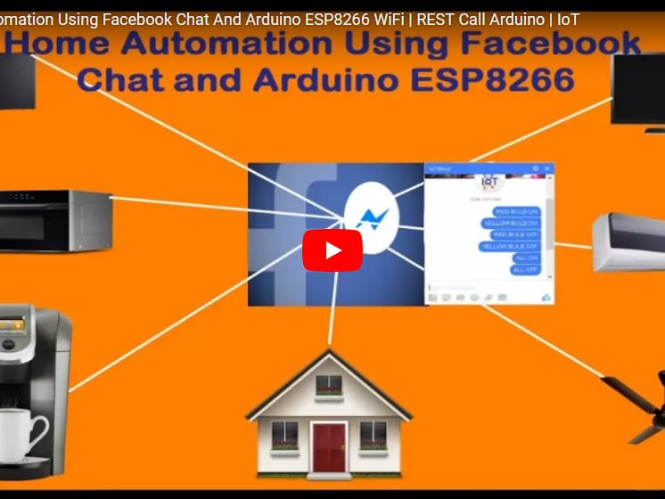 Control Home Lights Using Facebook Chat Messages