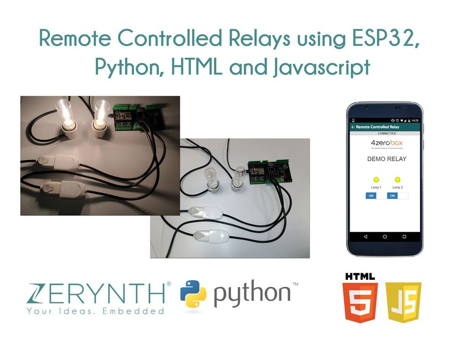 Remote Controlled Relays Using ESP32, Python And Javascript