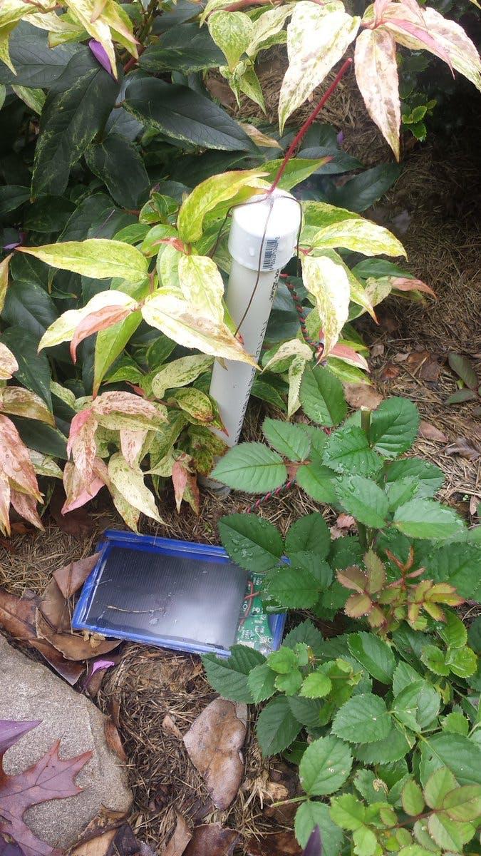 Solar powered LoRa node for soil moisture