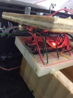 Arduino Nano is doing its brain work.