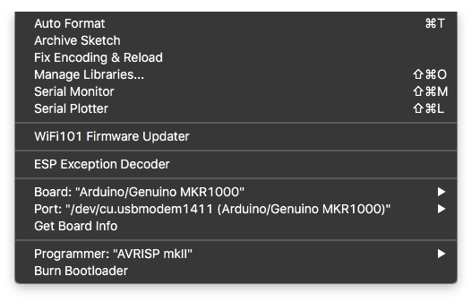 "Click on Tools and select ""WiFi101 Firmware updater"" from the dropdown menu"