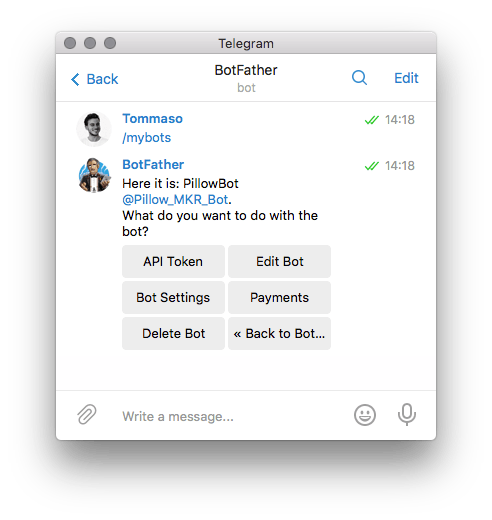 Text @BotFather with the /mybots command, and select your bot and Bot Settings