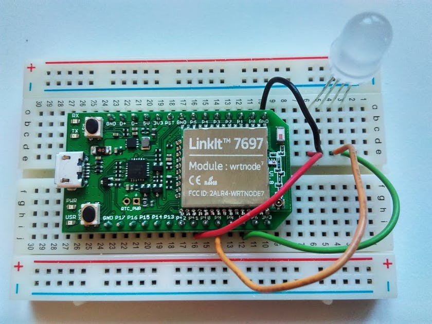 App Inventor + IoT: Wi-Fi RGB LED control with LinkIt 7697