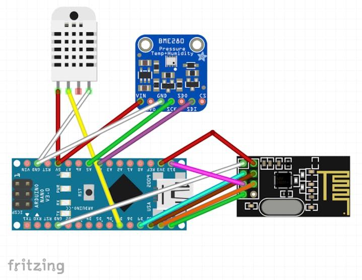 Arduino nRF24L01 Wireless Weather Station - Hackster io