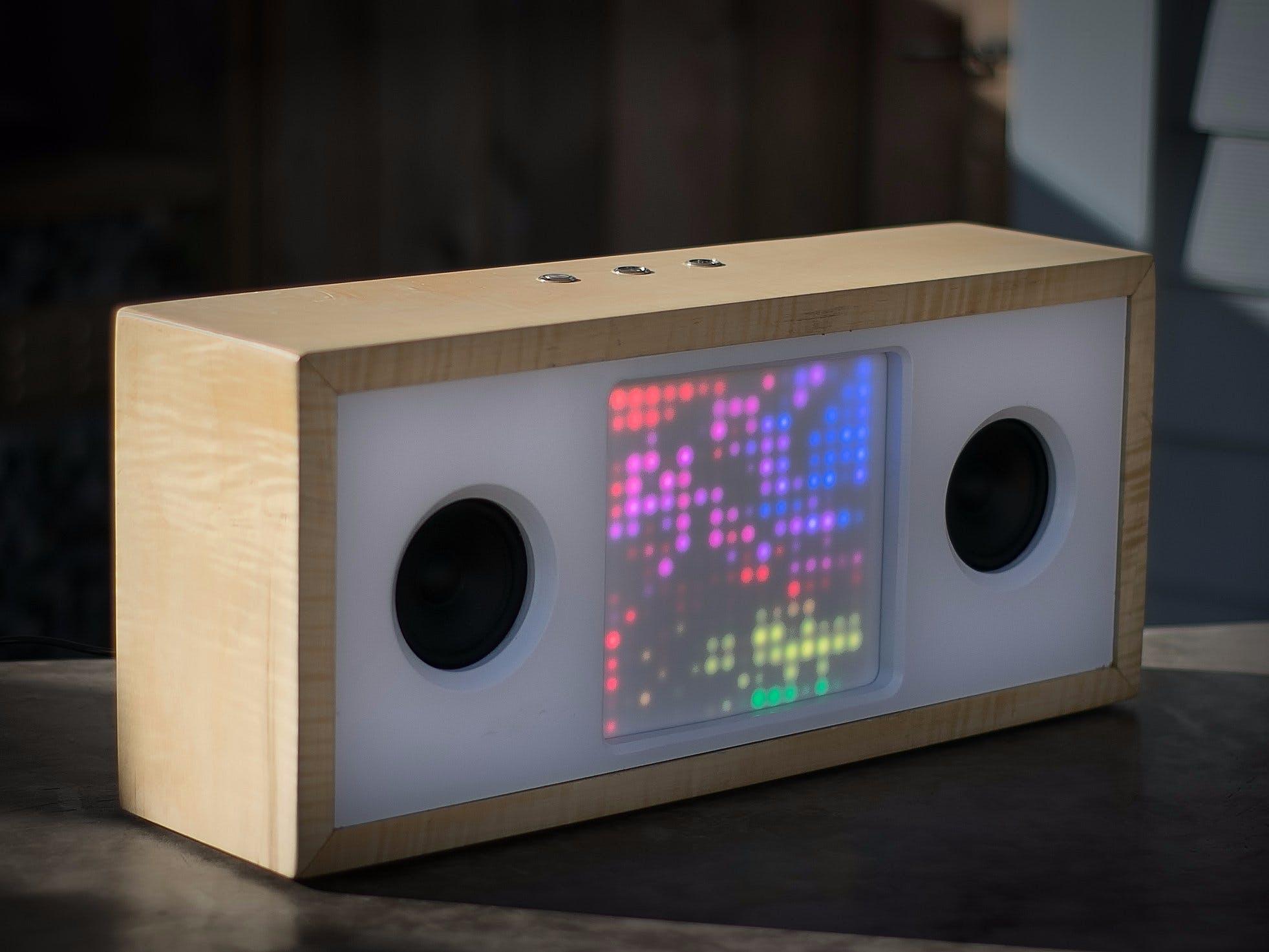bluetooth speaker w   music-reactive led matrix