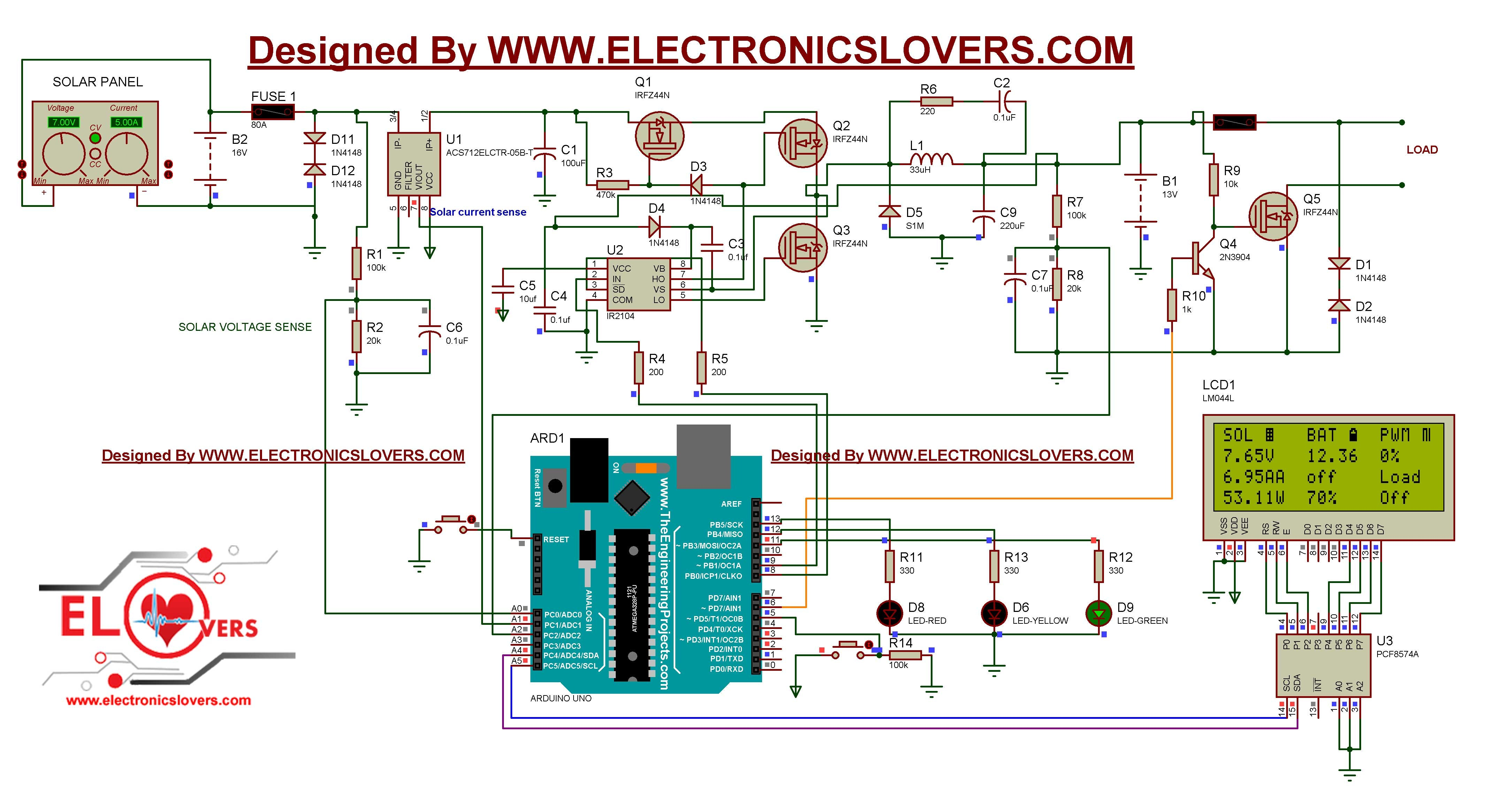 Simple Solar Panel Circuit Diagram
