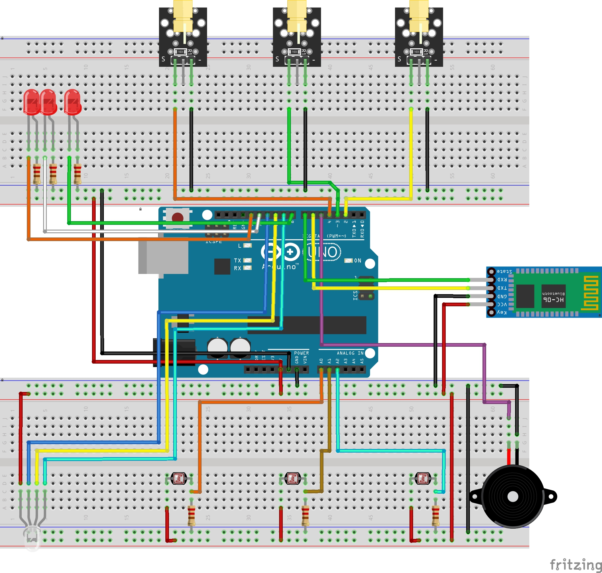 Create A People Counter Controlled By An Android App How To Make Laser Alarm Security Circuit On Breadboard Step With Lasers Bb Jxyntlcl8r