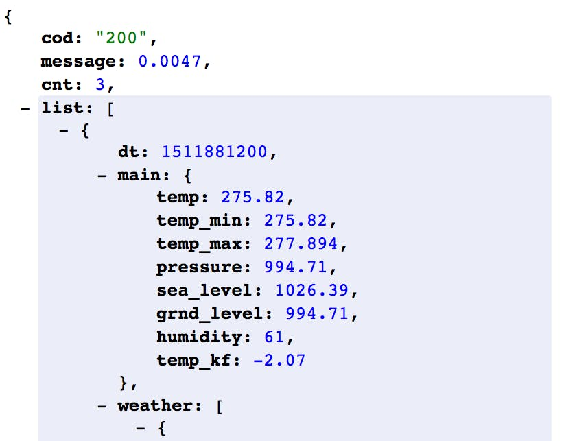Getting Weather Data