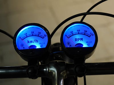 Utterly Hipster Bicycle Speed and Cadence Gauges