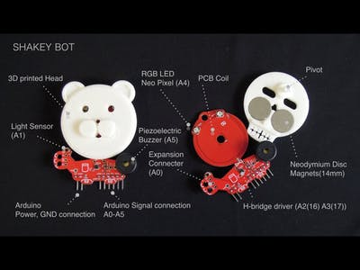 """PCB Magnetic Coil Robot """"SHAKEY"""""""