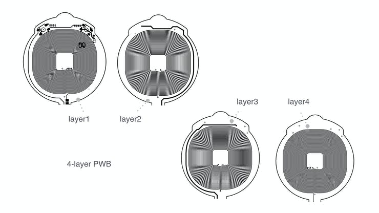 4 layer PWB pattern