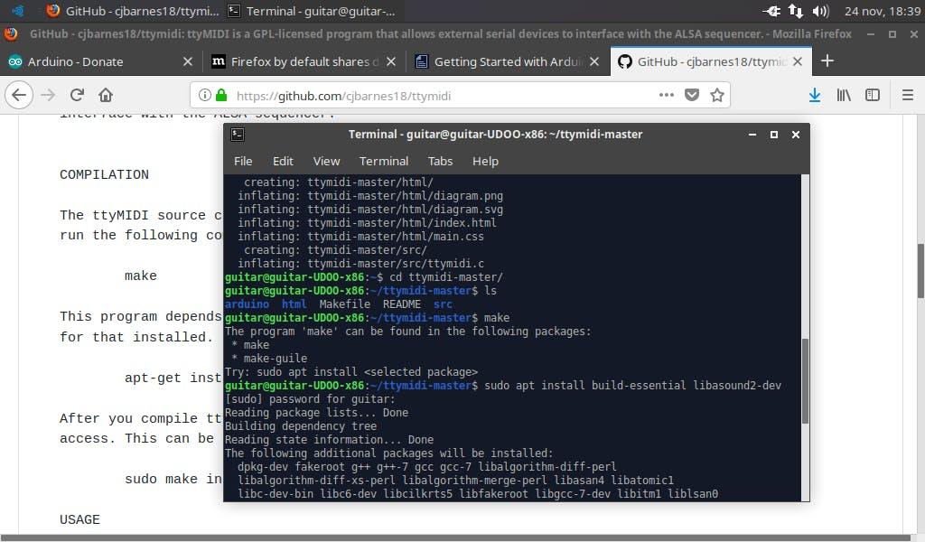 Some dependencies may be necessary. Install them via apt