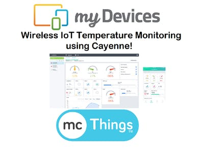 Wireless IoT Temperature Monitoring Displayed in Cayenne