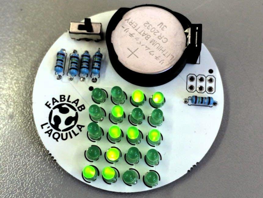 LED Matrix Display Badge