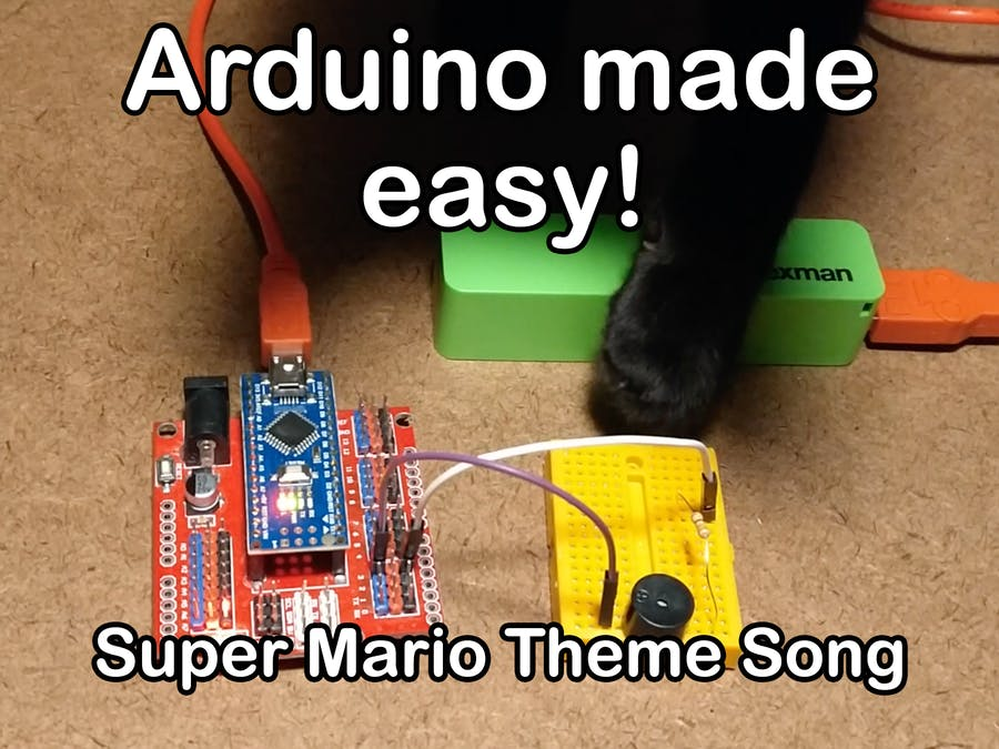 Super Mario Theme Song w/ Piezo Buzzer And Arduino! - Hackster io