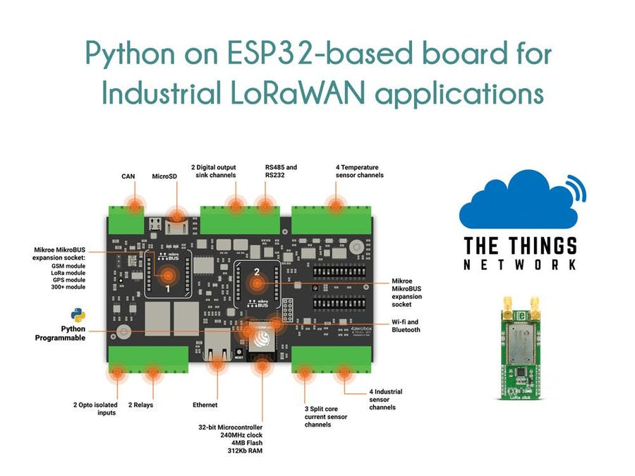 Python on ESP32 for Industrial LoRaWAN Applications