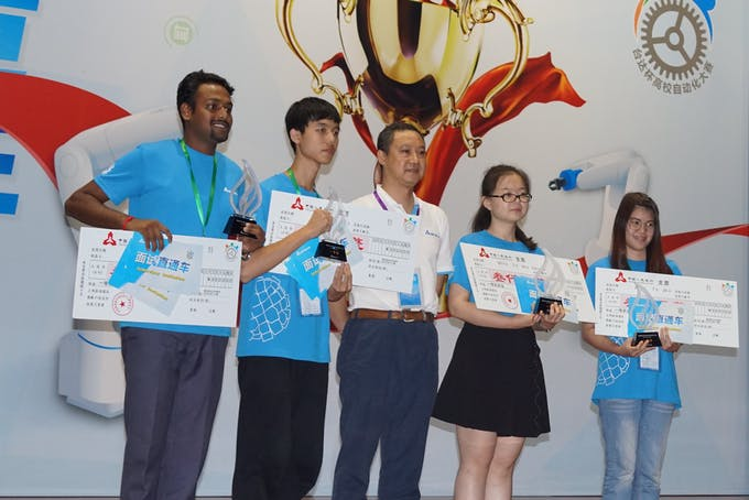 Taking The Award at 4th Delta Automation Challenge