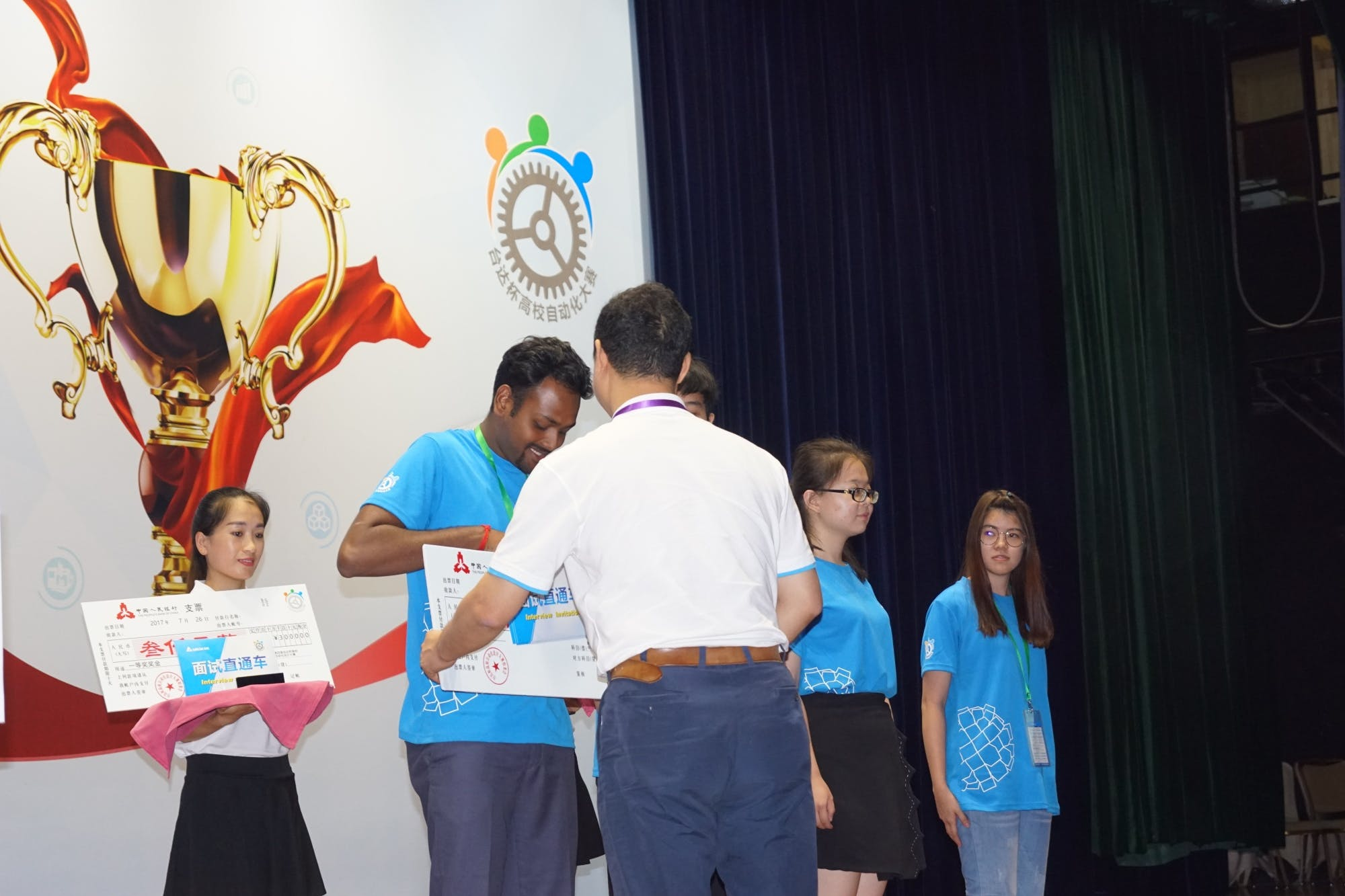 Receiving the First Prize