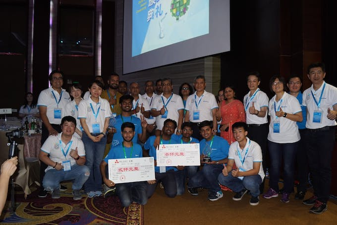Group picture of all Indian Participants and Delta Officials