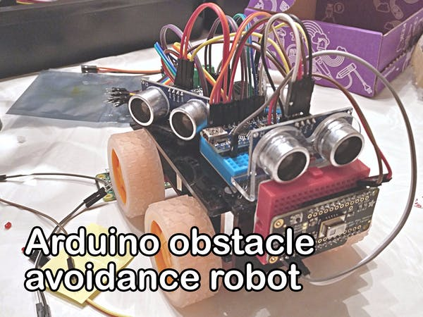Arduino obstacle avoidance robot with ultrasonic hc sr