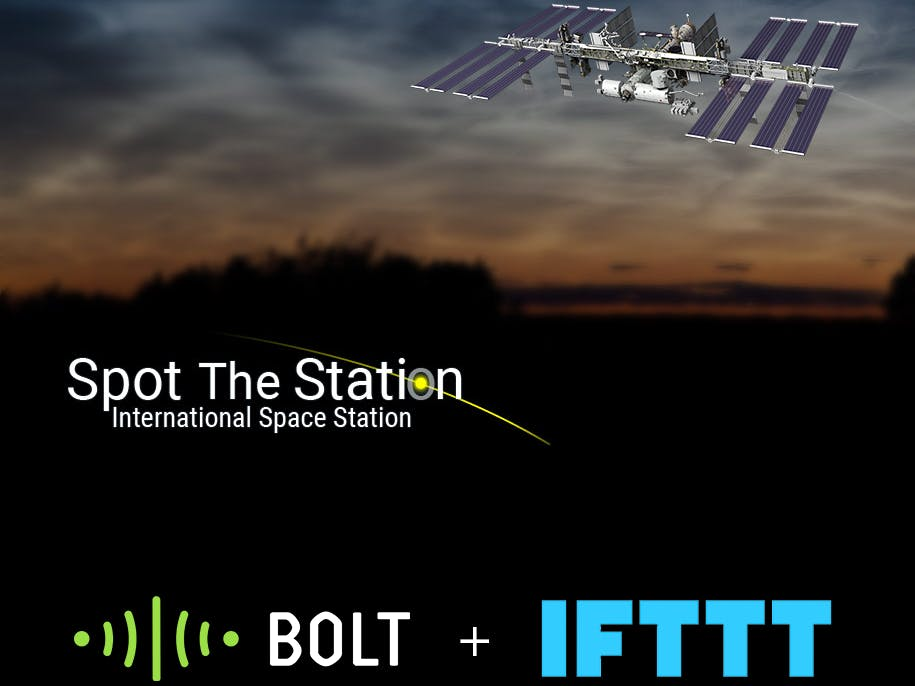 Get Notified If ISS Passes Over Place with Bolt IoT