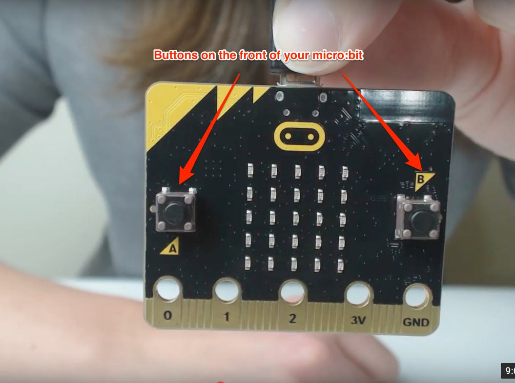 buttons on the front of your micro:bit
