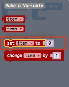 """Choose """"set item to'"""