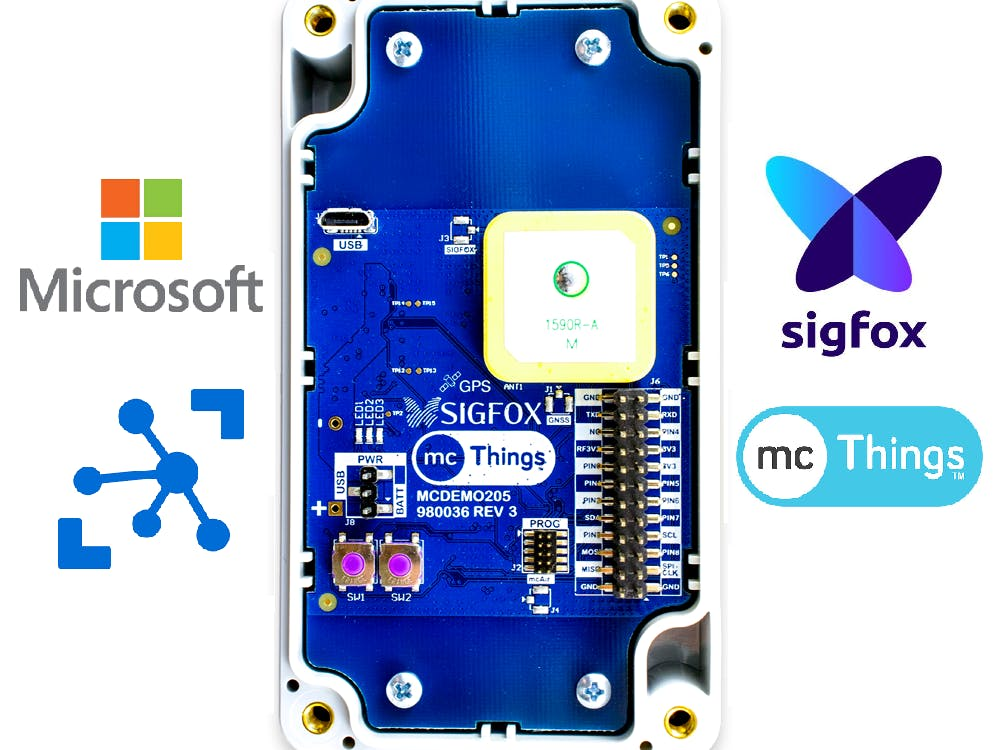 GPS Asset Tracking Using the mcDemo205, SIGFOX & Microsoft!