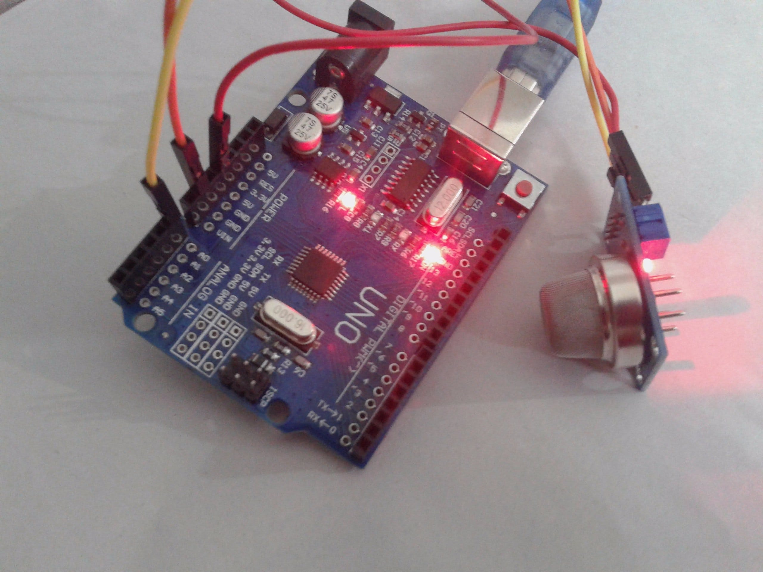 Air Quality Check with Arduino Uno