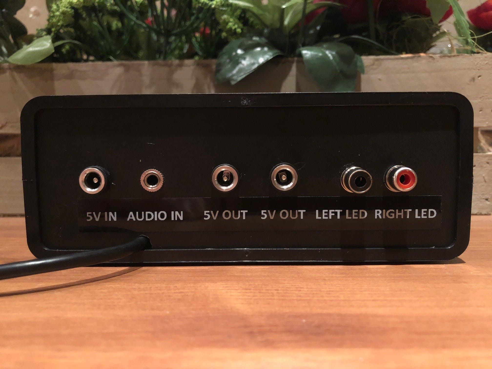 Arduino LED VU meter controller back