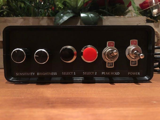 Arduino LED VU meter controller front