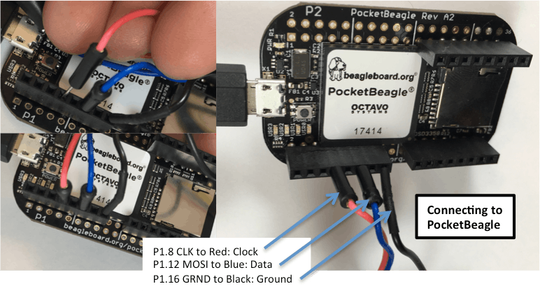 Connecting the jumpers to control using SPI bus