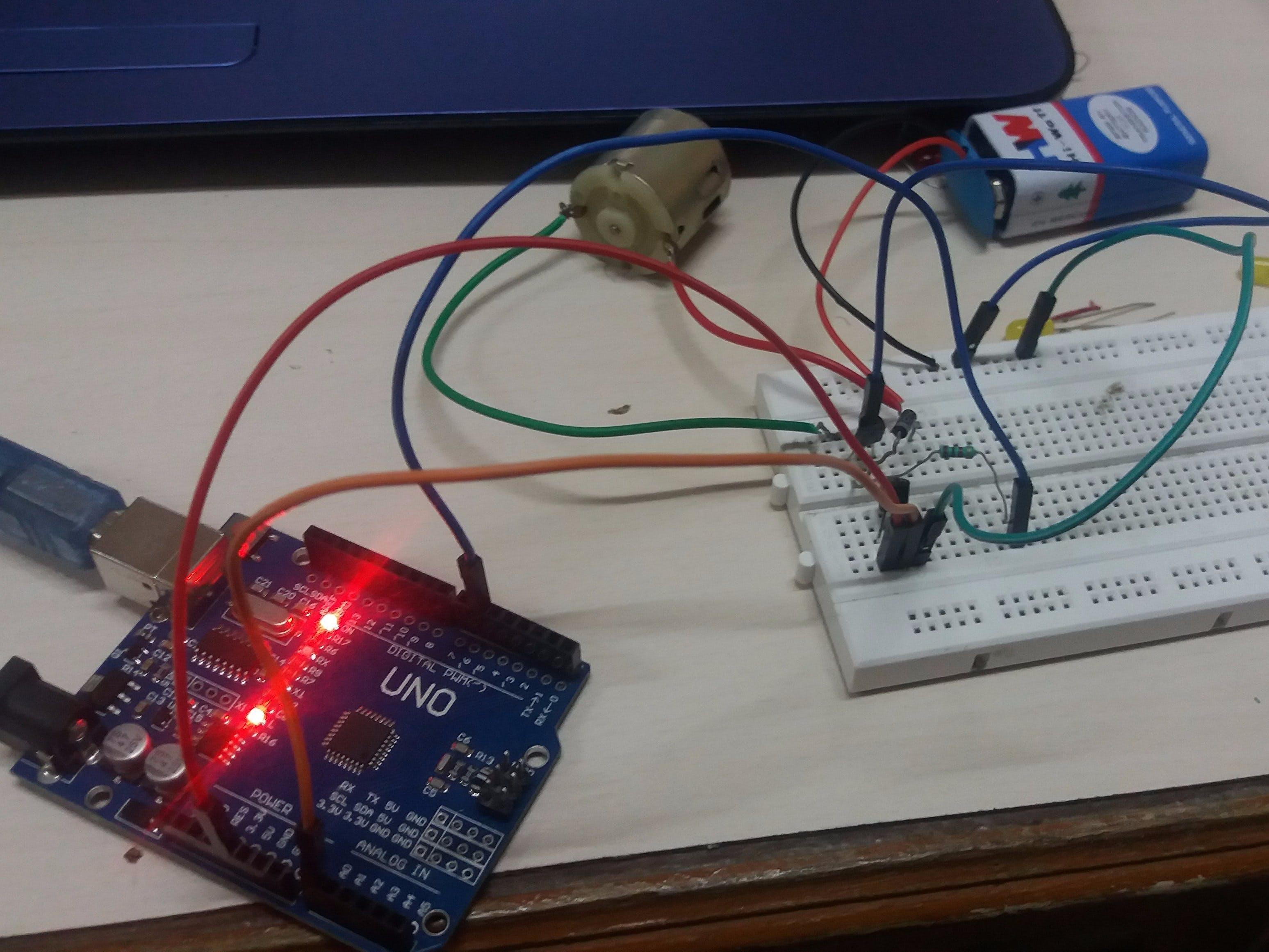 Temperature Sensor To control Servo Motor