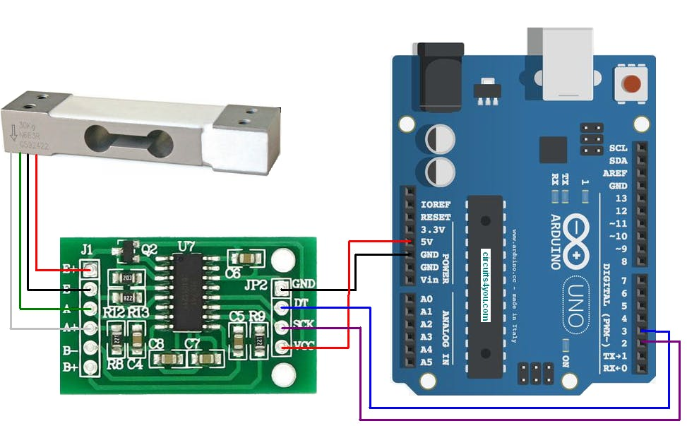 HX711 Load Cell Amplifier Interface with Arduino - Hackster.io