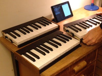Portable MIDI BLE Keyboard