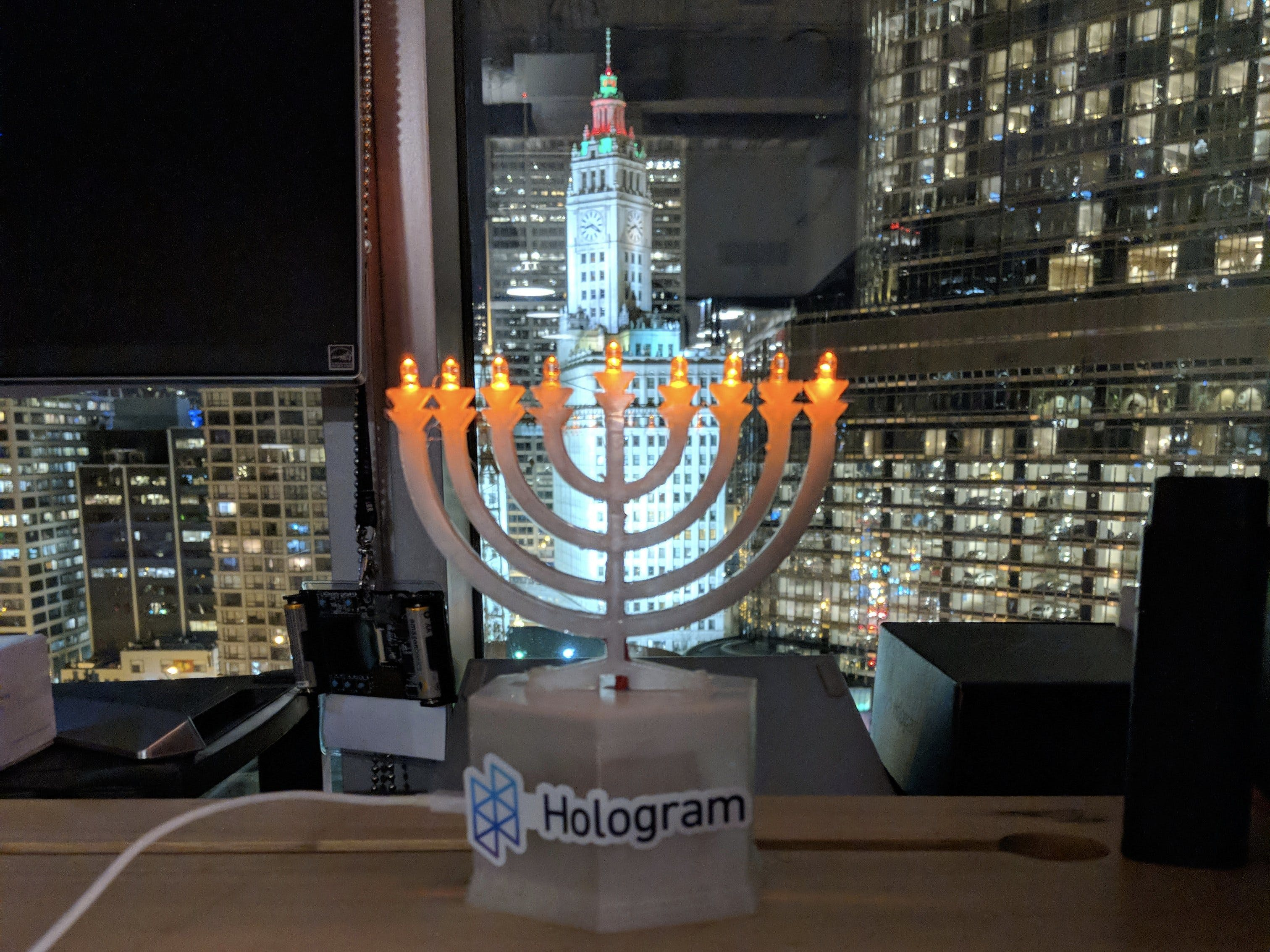 Holo-day Hanukkah Menorah