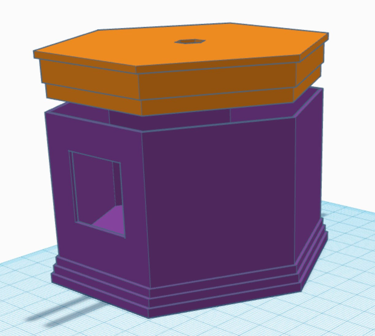 TinkerCAD Screenshot of the circuitry box