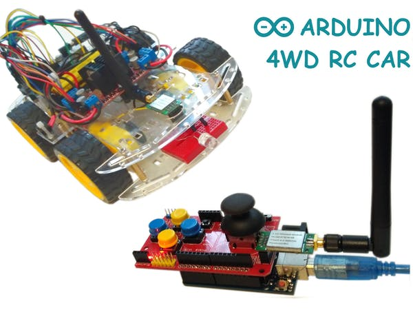 Hi everyone! This is my next project - Arduino 4WD RC Car with Joystick Controller or How easy it is to control an Arduino 4WD Smart Car with an analo