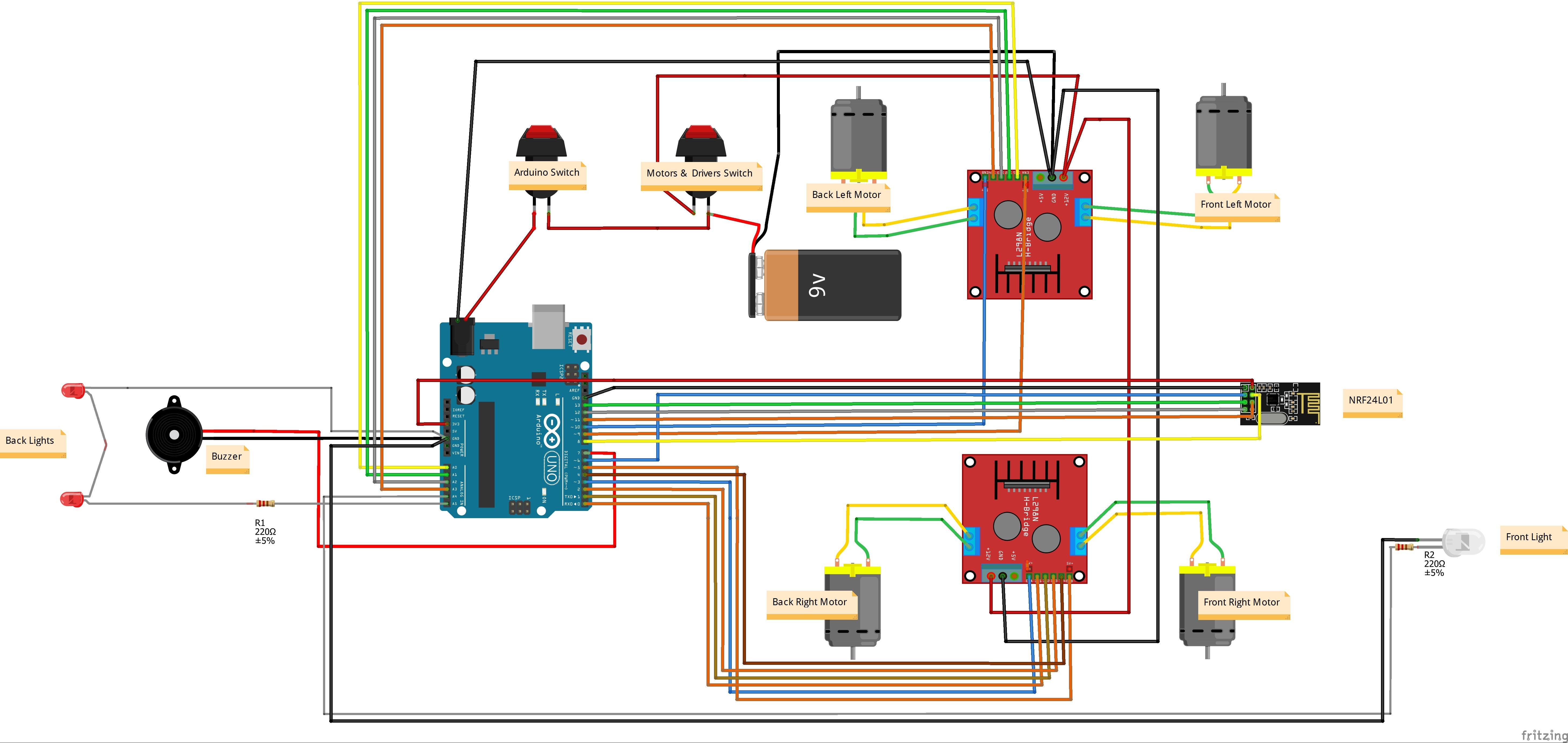 Rc Car Wiring Diagram Archive Of Automotive Buck Stove Arduino 4wd Hackster Io Rh Electric Wired Remote