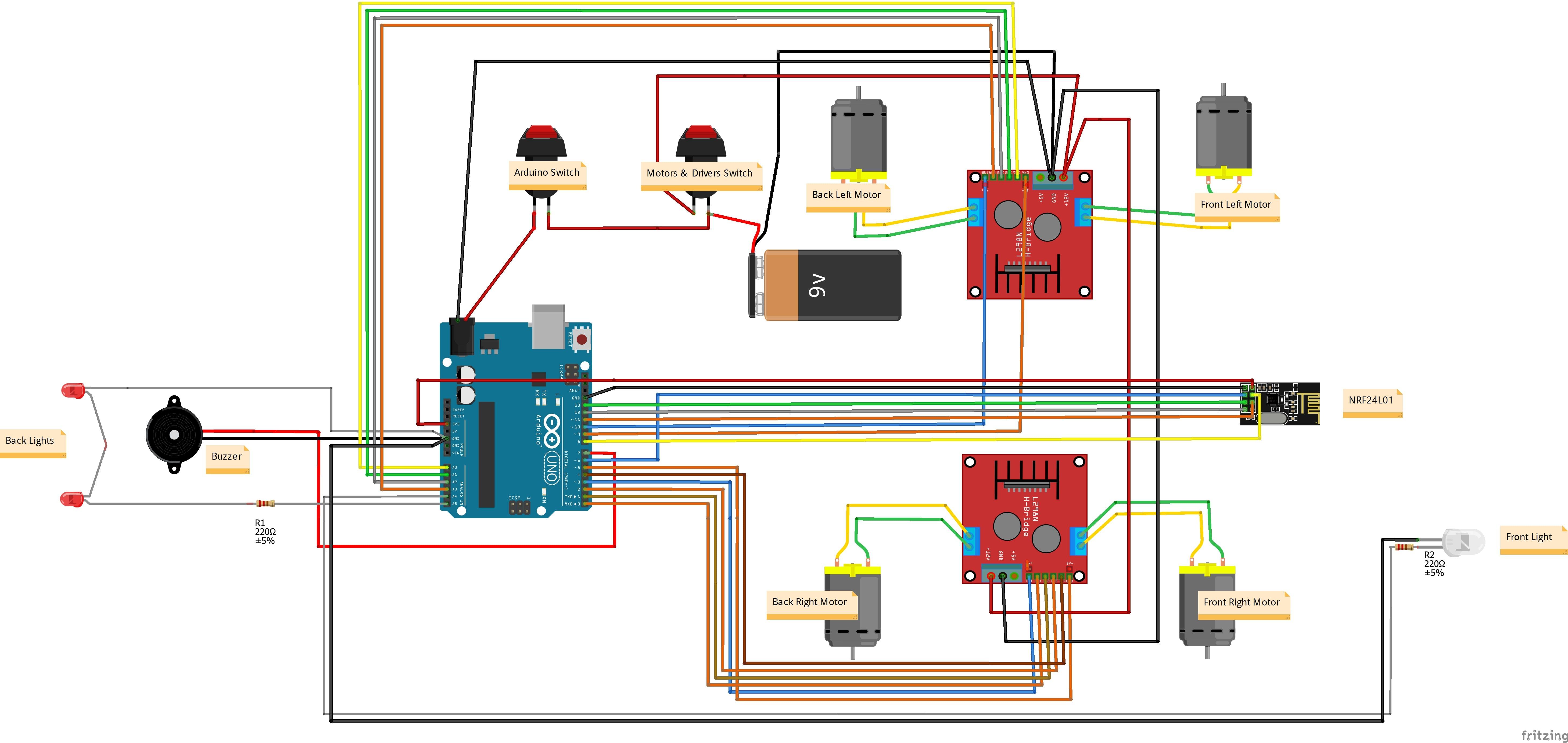 Arduino 4wd Rc Car