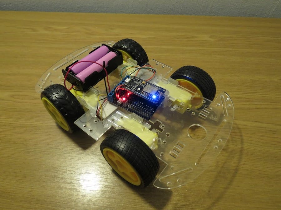 Simplest wifi car using ESP8266 Motorshield
