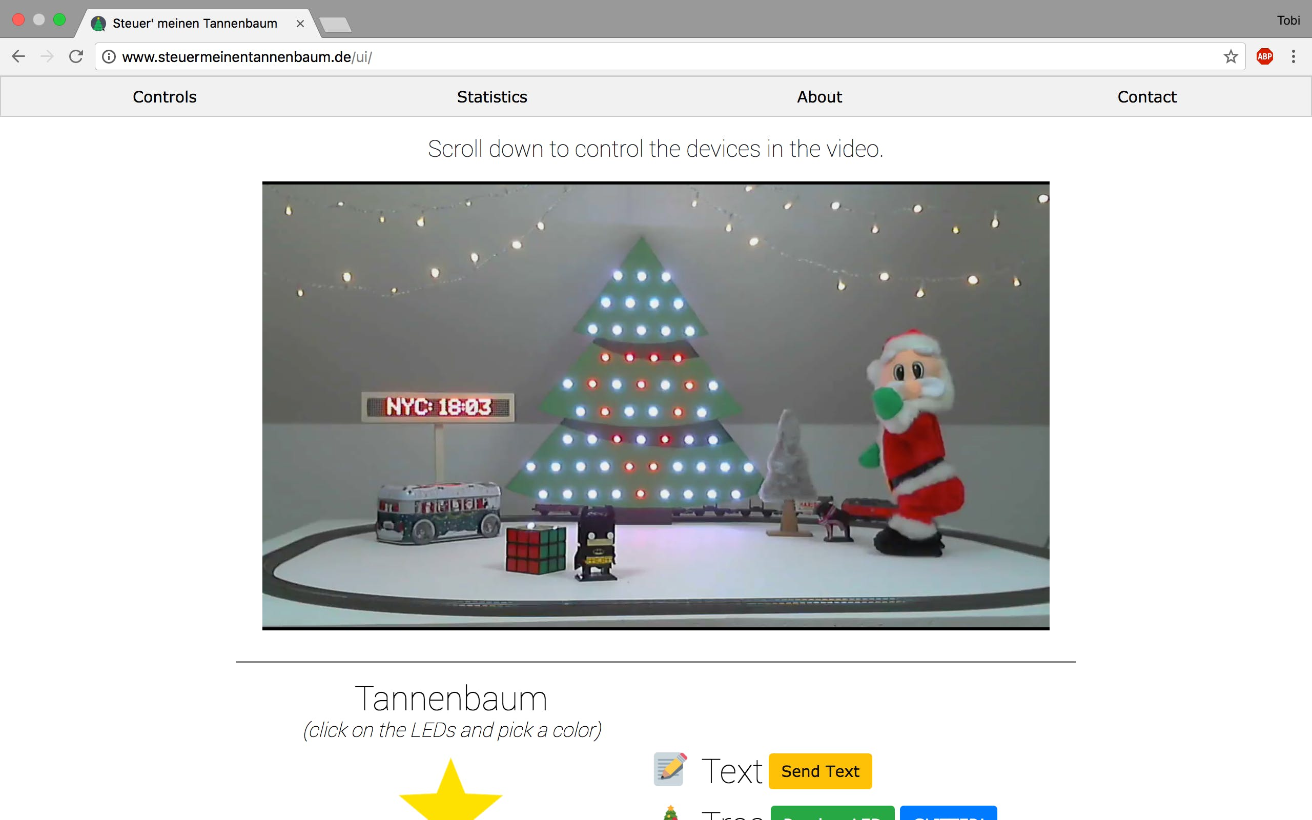 Live stream screenshot of our little x-mas wonderland