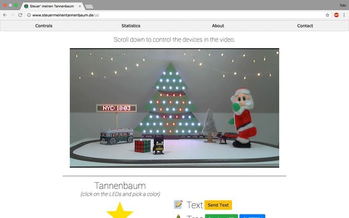 Live stream screenshot of our little x-mas wonderland